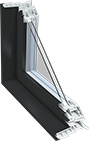 Hybrid Window Aluminum and PVC